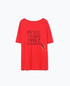 camiseta roja varita