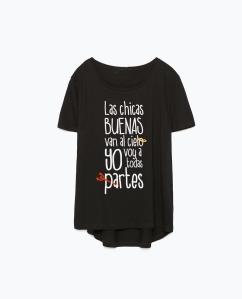 camiseta negra chicas buenas
