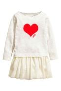 vestido nueva temporada blanco CORAZON ROJO
